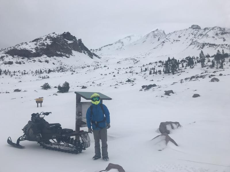 Old Ski Bowl, end of road/trailhead