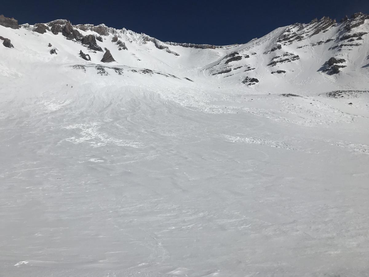 Avalanche Gulch, viewed from Helen Lake (10,400 ft)