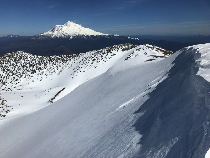 Shasta from the summit of Mt Eddy