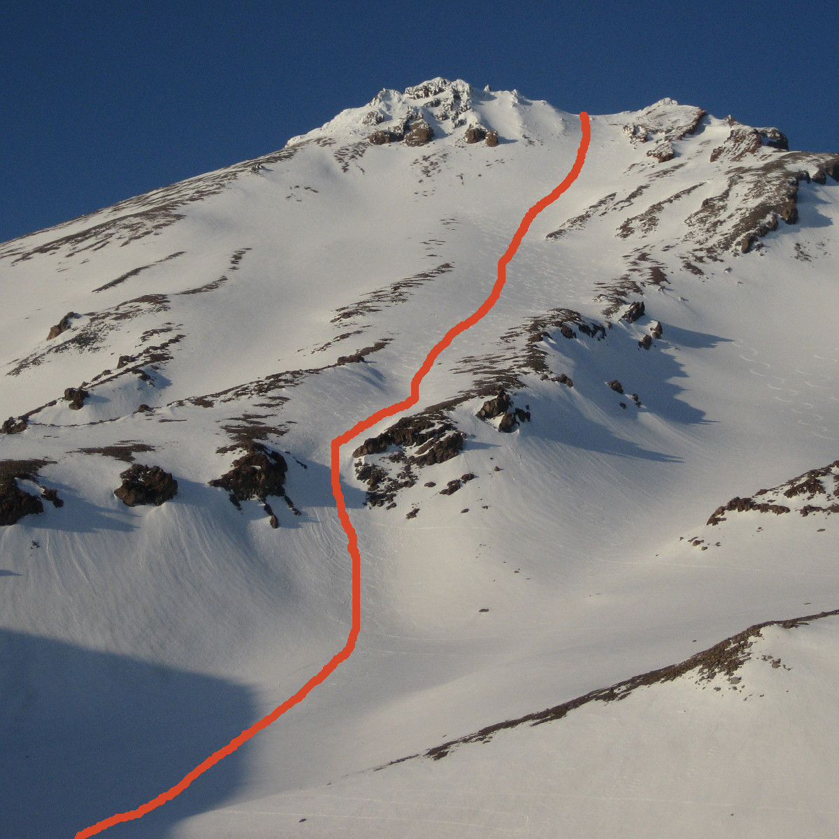 West Face Climbing Route