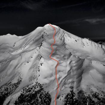 Mt. Shasta - Avalanche Gulch - Aerial View